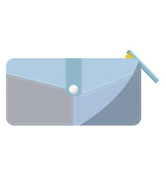 Womens purse on white background vector