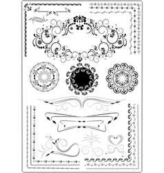 Decorative border ornament vector image vector image