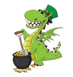 dragon leprechaun vector image