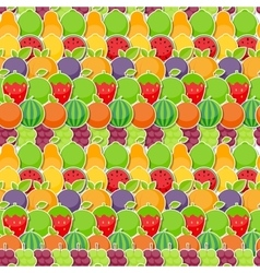 Seamless Pattern Background from Apple Orange vector image vector image