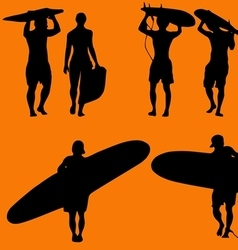 Surfers vector