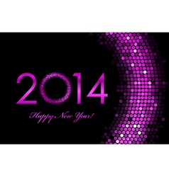 2014 Happy New Year purple background vector image vector image