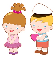 Boy and girl vector image