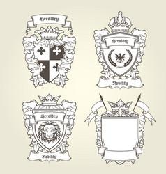 coat of arms templates - heraldic shield vector image vector image