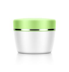Cosmetic jar vector image vector image