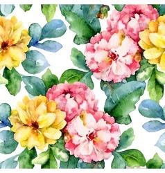 Dahlias vector image vector image