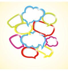 Design element of colorful bubbles vector image