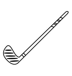 hockey stick game image outline vector image