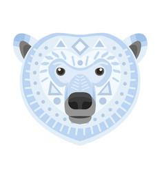 polar bear head logo white bear decorative vector image vector image