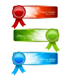Set of banners with label vector image vector image