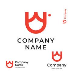 simple tulip logo beautiful modern identity brand vector image vector image