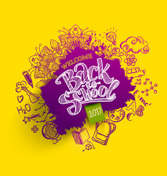 back to school blob with doodles vector image vector image