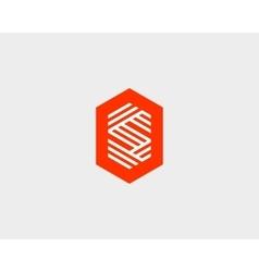 Letter S logo icon design Creative line vector image