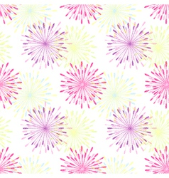 Springtile Colorful Flower Seamless Pattern vector image vector image