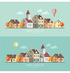 Urban landscape Autumn vector image vector image