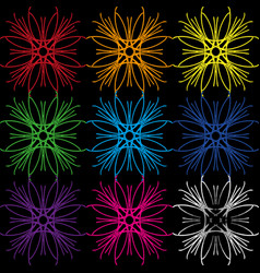 a set of colors from geometric lines in different vector image