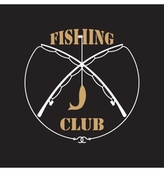 Fishing club labels vector image