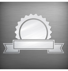 Metallic award sign on grey vector image vector image