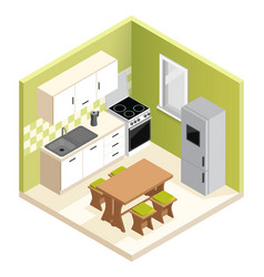 miniature apartment kitchen vector image