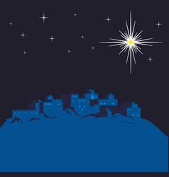 night bethlehem and christmas star vector image