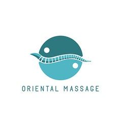 Spine logo oriental massage blue symbol diagnostic vector image