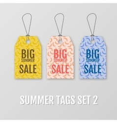 Summer tags set Sale sticker with special vector image