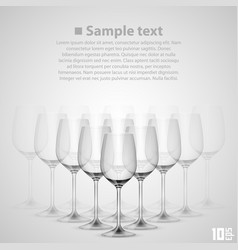 wineglass glass vector image vector image