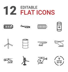 12 fuel icons vector