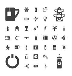 37 energy icons vector