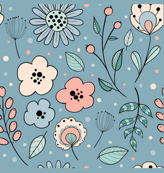 abstract floral graphic design vector image
