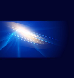 abstract futuristic lighting effect on dark blue vector image