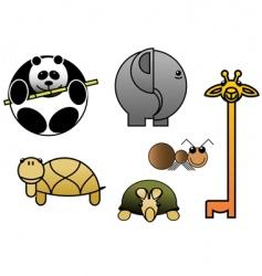 animal babies vector image