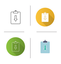 Assignment returned icon vector