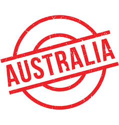 Australia Rubber Stamp Vector