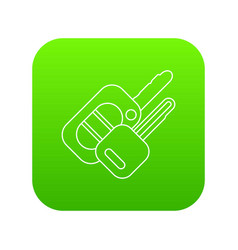 auto key icon green vector image