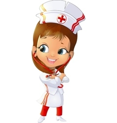 beautiful figure nurse vector image