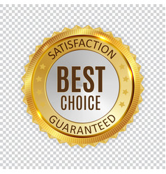 best choice golden shiny label sign vector image