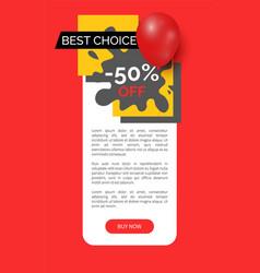 Best choice half price sale goods web site vector