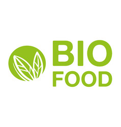 bio food logo vector image