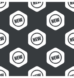 Black hexagon NEW sign pattern vector
