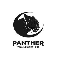 Black panther logo design template vector