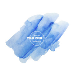 Blue watercolor texture on a white background for vector