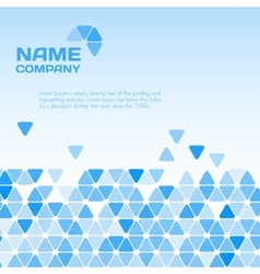 Business blue background vector