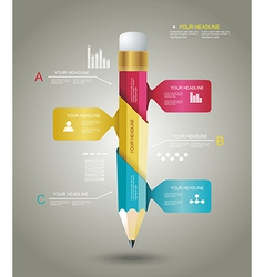 Business Design Template with Pencil ribbon vector