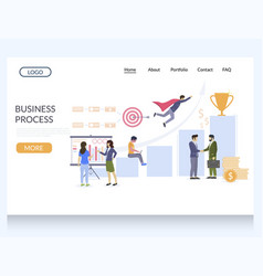 business process website landing page vector image