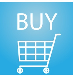Buy slogan and shopping cart symbol eps10 vector