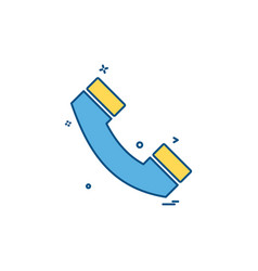 call telephone phone icon design vector image