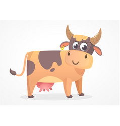 Cartoon cow flat design vector