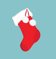 Christmas sock icon vector image