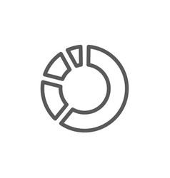circle percentage diagram line icon vector image